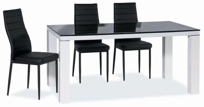 обеденный стол стеклянный фото